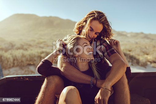 istock Couple on a road trip 678962444