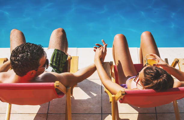 Couple on a vacation. stock photo