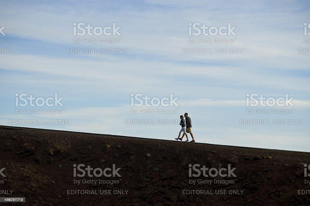 Couple on a Walk 免版稅 stock photo