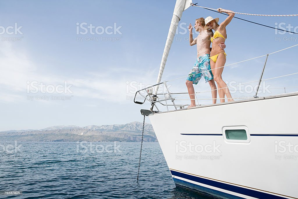 A couple on a yacht royalty-free 스톡 사진