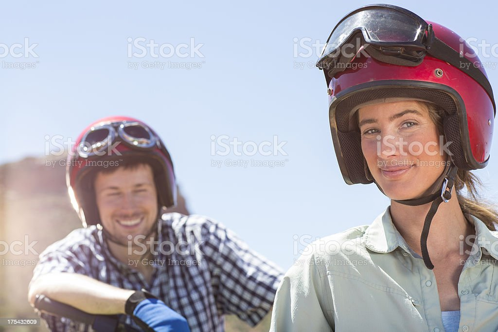 Couple on an Adventure royalty-free stock photo