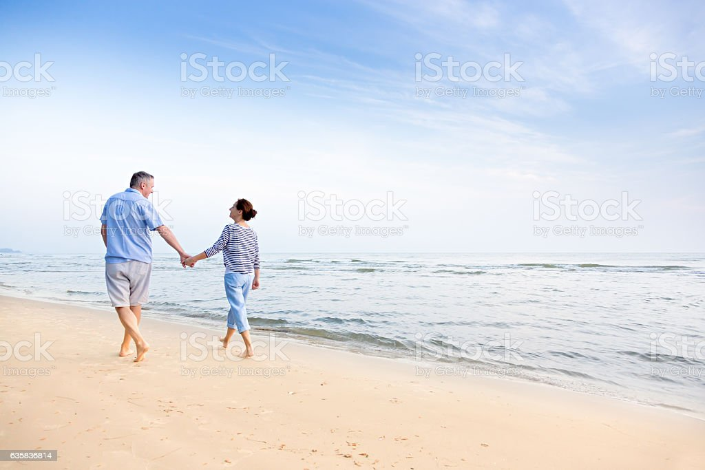 Couple on beach royalty-free stock photo