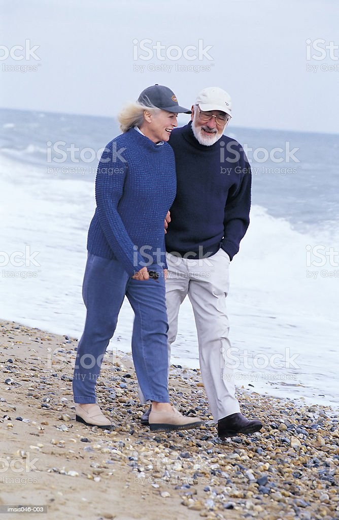 Couple on beach royalty-free stock photo