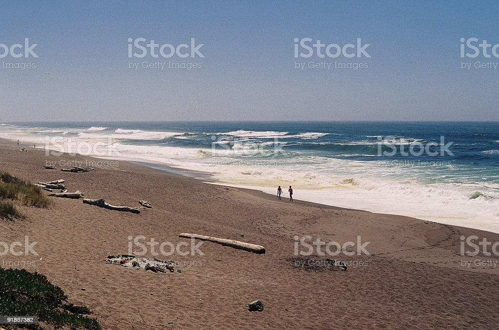 Couple on California beach royalty-free stock photo