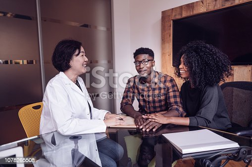 Couple on doctors consultation