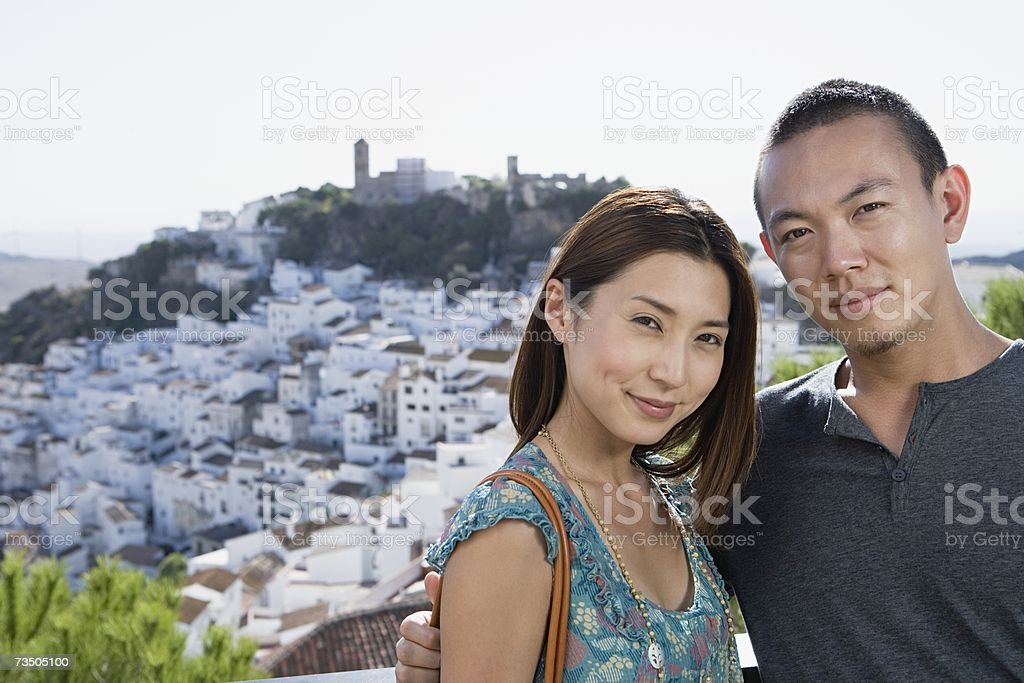 Couple on holiday royalty-free stock photo