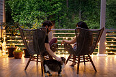 istock Couple on Patio in the Evening 1223479303