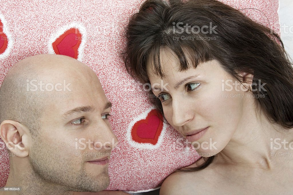 Couple on pillow royalty-free stock photo