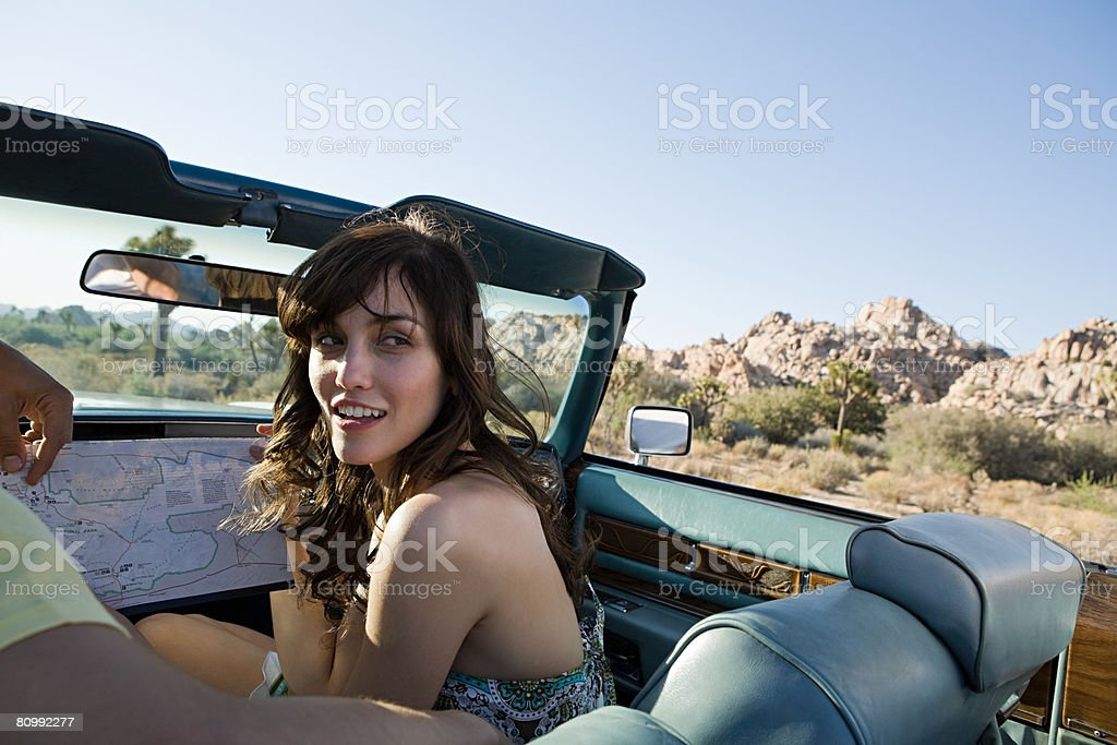 Couple on road trip royalty-free stock photo