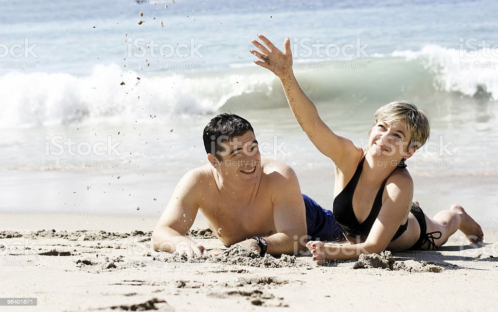 Couple on the beach - Royalty-free Adult Stock Photo