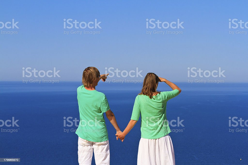couple on the beach vacation royalty-free stock photo