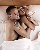 istock Couple on the bed 157692189