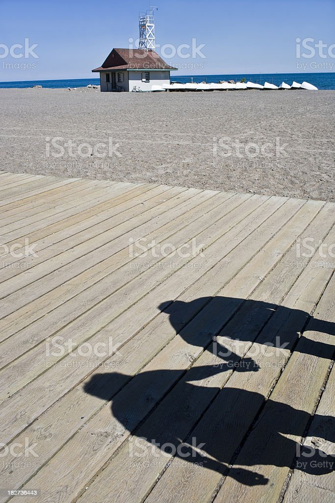 Couple on the boardwalk royalty-free stock photo
