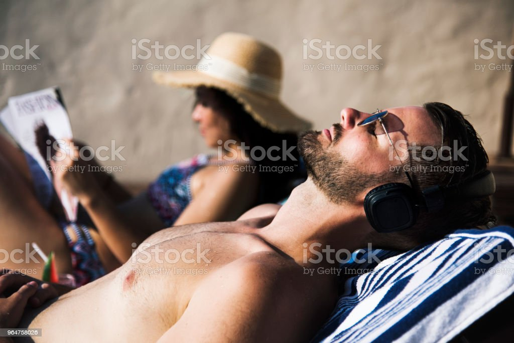 A couple on vacation royalty-free stock photo