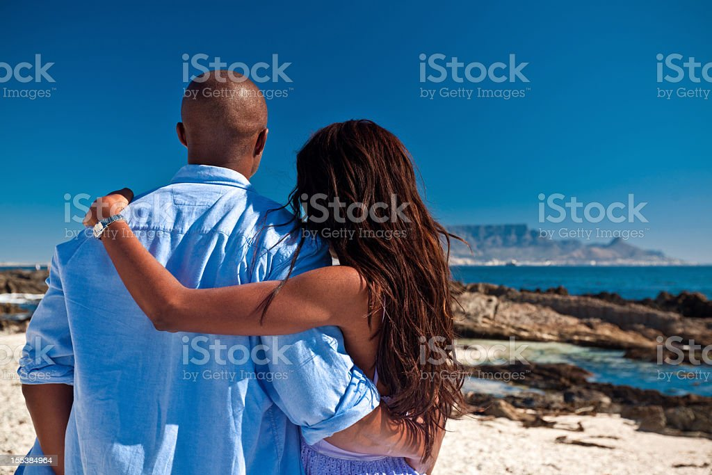 Couple on vacations  Admiration Stock Photo