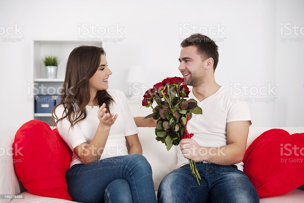 Couple on Valentine's Day royalty-free stock photo