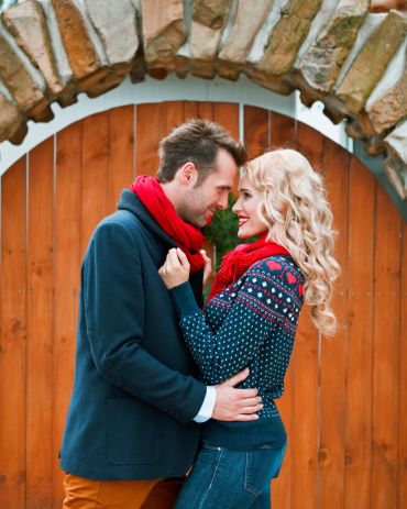 Couple On Winter Holidays Stock Photo - Download Image Now
