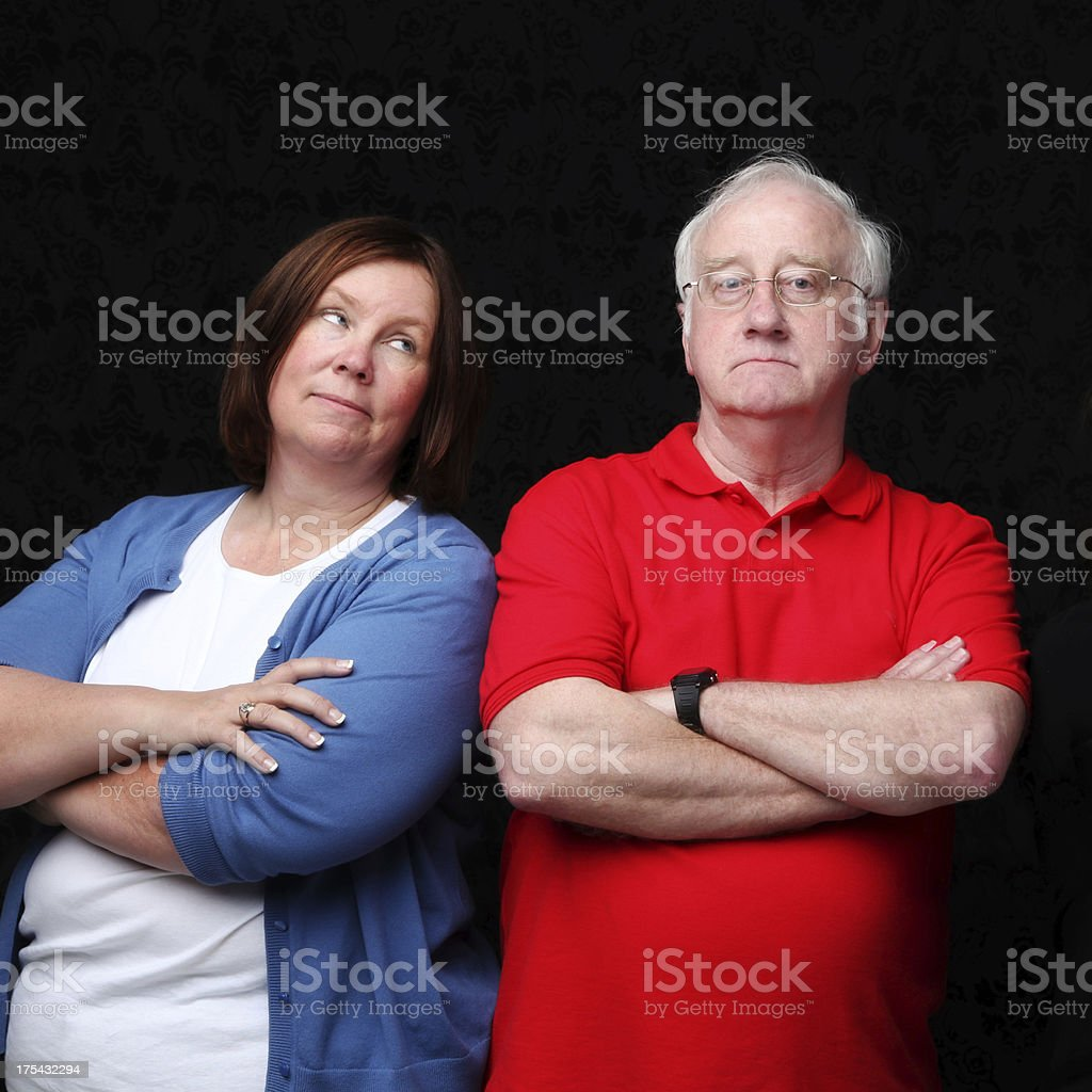 Couple or Siblings Having a Disagreement stock photo