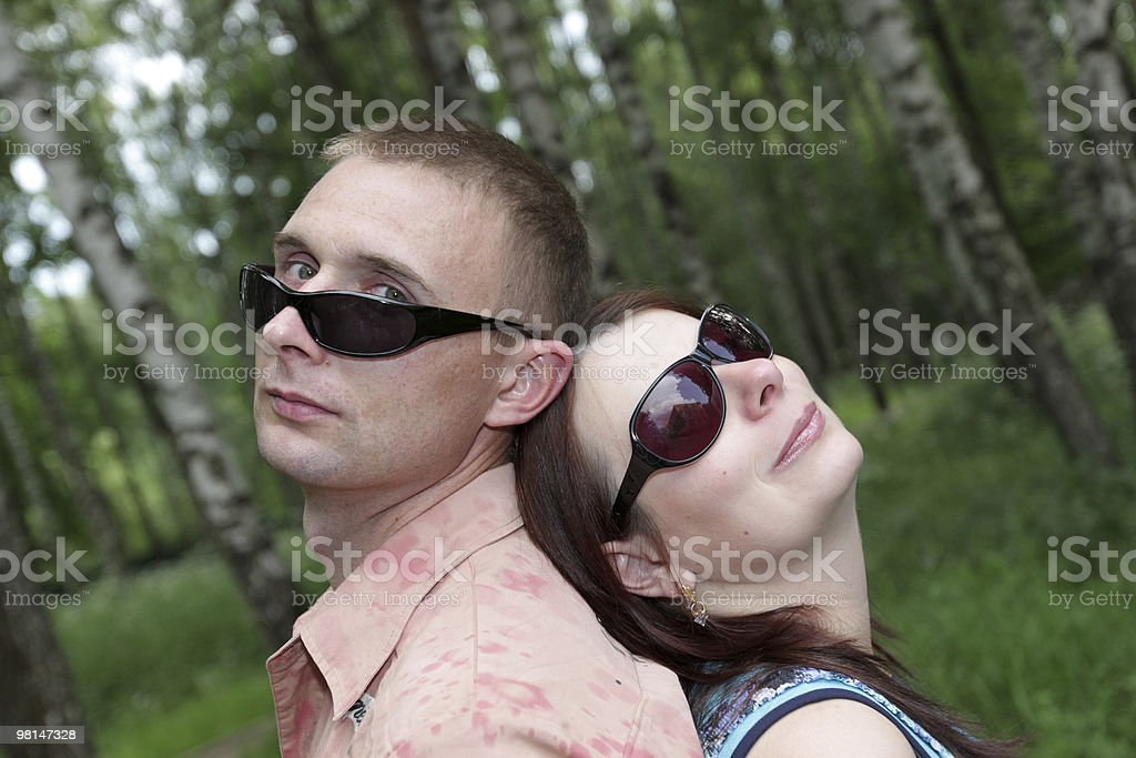 Couple outdoor royalty-free stock photo