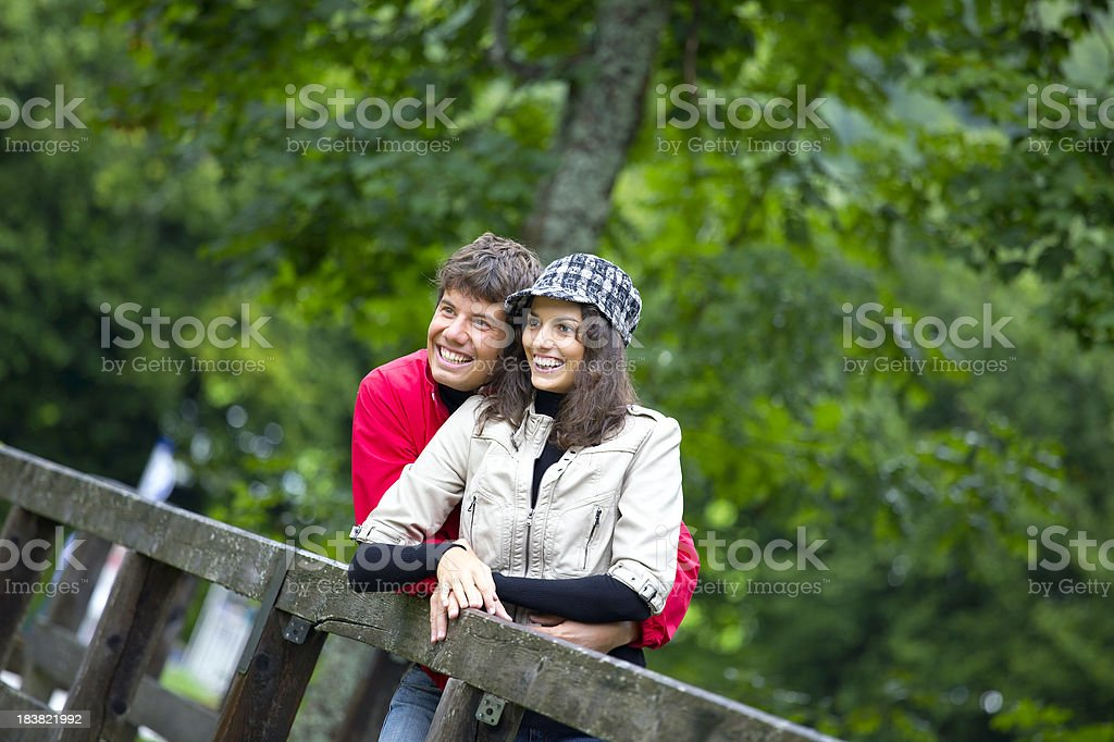 couple outdoors royalty-free stock photo