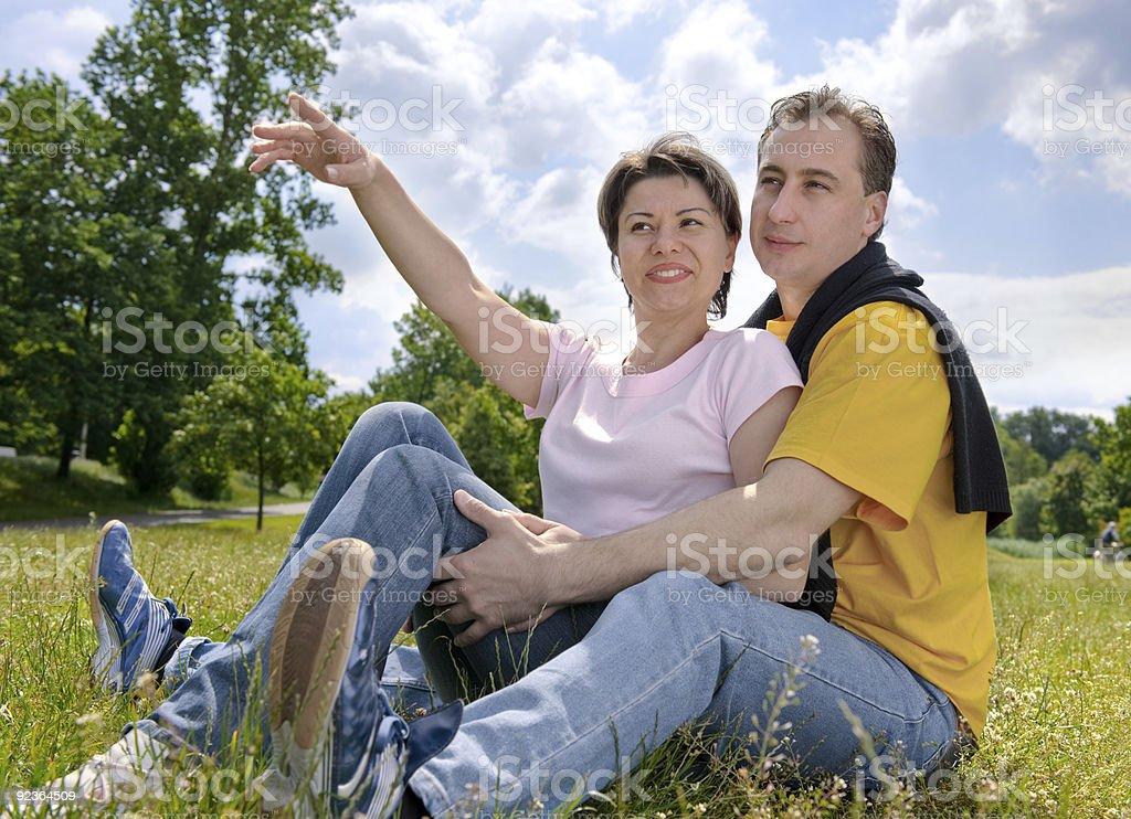 Paar im Freien Lizenzfreies stock-foto