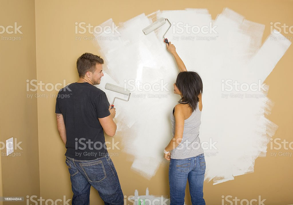 Couple Painting royalty-free stock photo