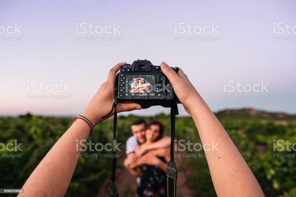 Couple photoshoot stock photo