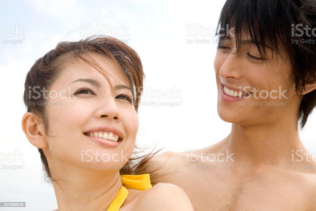 Couple portraits royalty-free stock photo