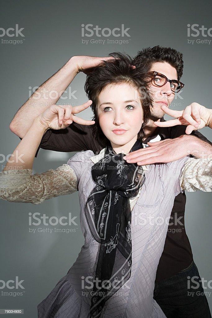 A couple posing royalty-free stock photo