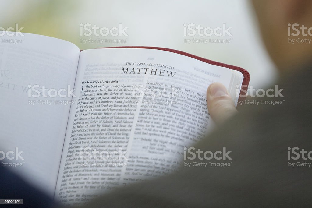 Couple Reading Bible royalty-free stock photo