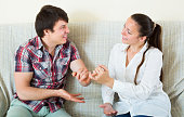 Couple reconciled after a quarrel