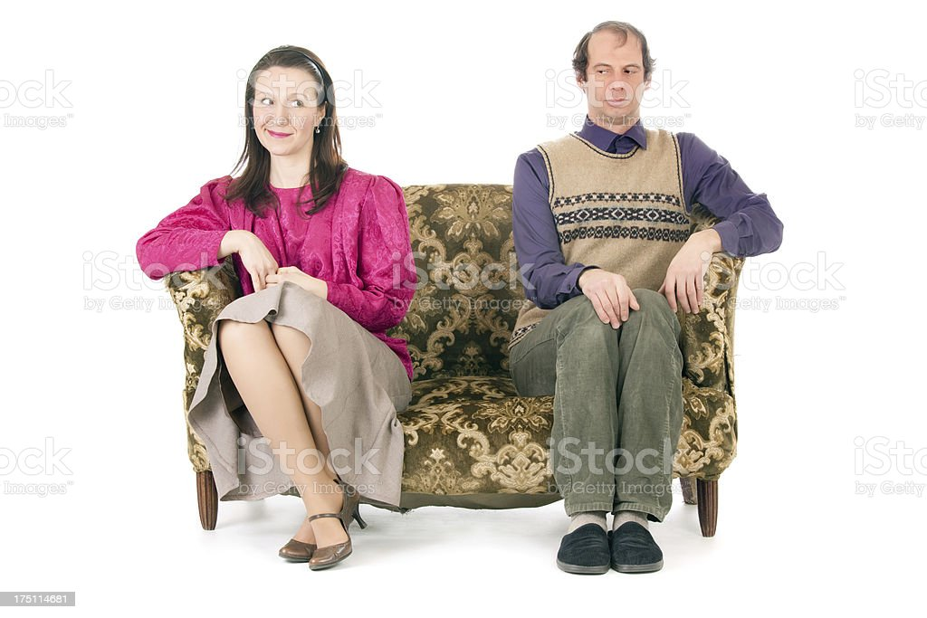 couple relationship difficulties stock photo