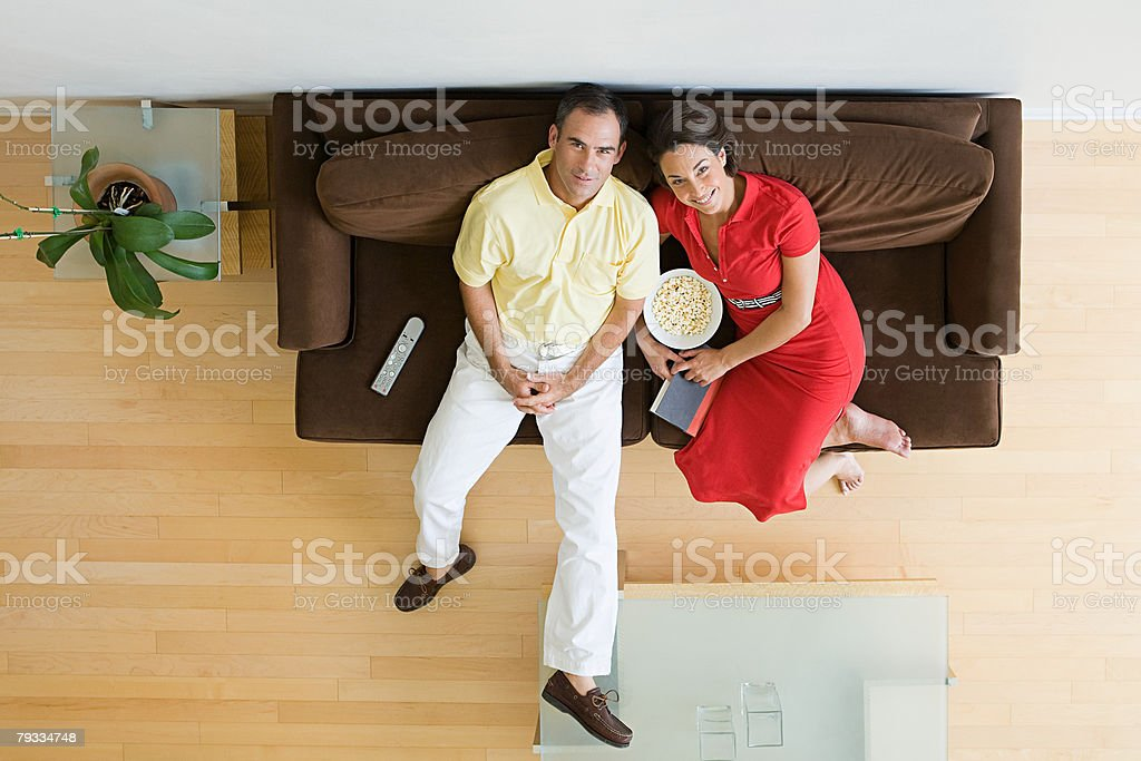 Couple relaxing at home 免版稅 stock photo