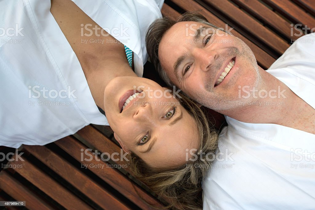 Par relajarse en el spa - foto de stock