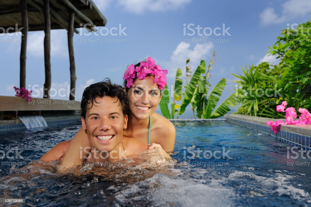 Couple relaxing in private Luxury Spa (XXXL) royalty-free stock photo