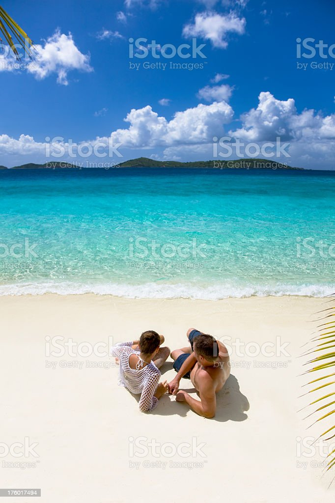 couple relaxing in the Caribbean royalty-free stock photo