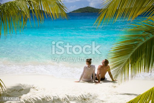 couple relaxing on the Caribbean beach