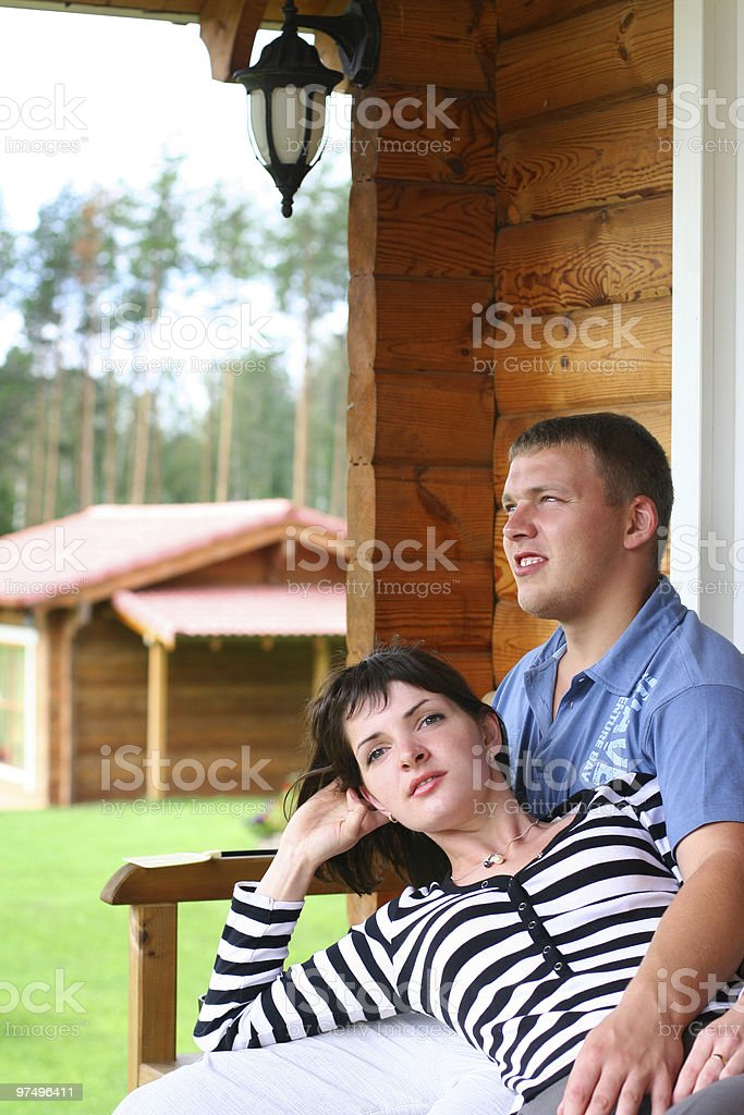 couple relaxing royalty-free stock photo