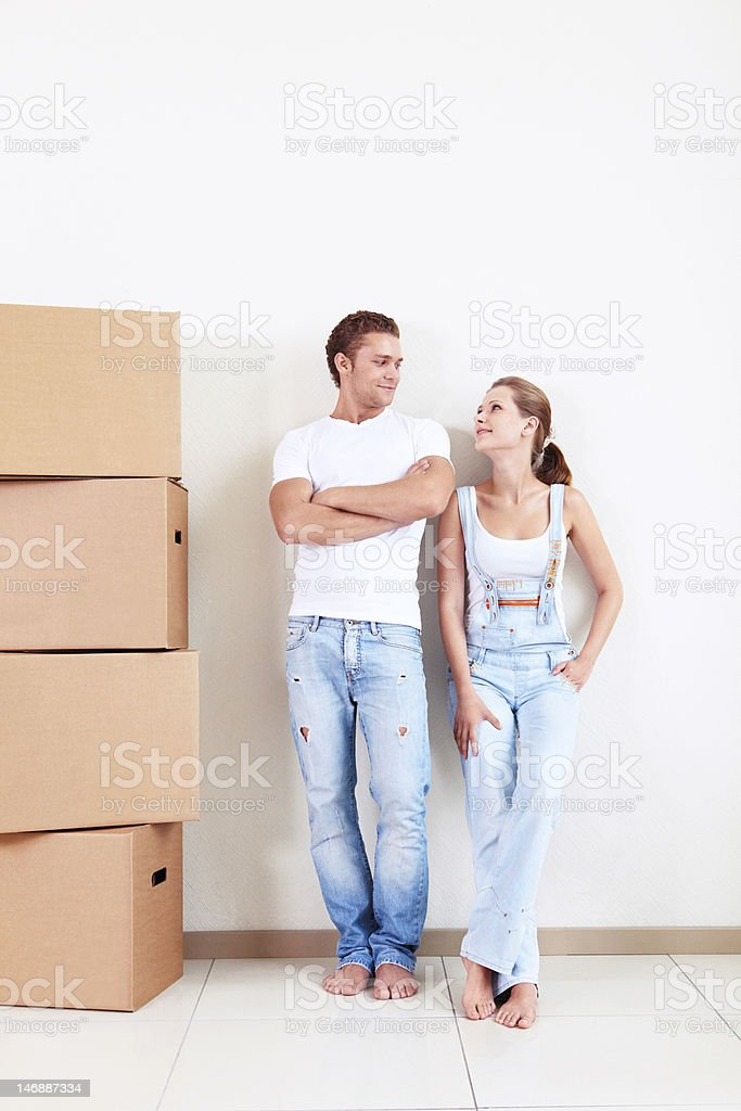 Couple relocated royalty-free stock photo