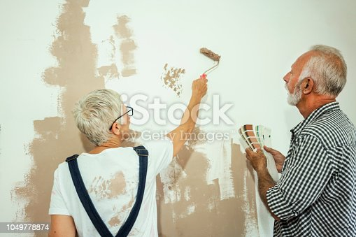 1063725014 istock photo Couple remodeling their home 1049778874