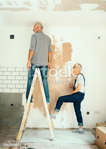 1063725014 istock photo Couple remodeling their home 1055899974