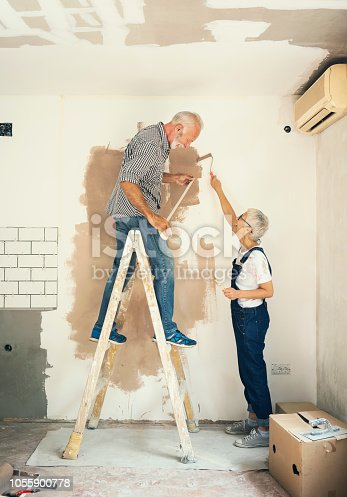 1063725014 istock photo Couple remodeling their home 1055900778