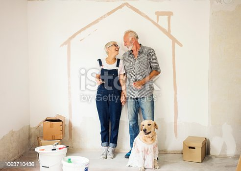1063725014 istock photo Couple remodeling their home 1063710436