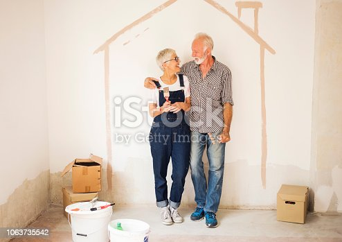 1063725014 istock photo Couple remodeling their home 1063735542
