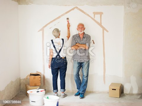 1063725014 istock photo Couple remodeling their home 1063735544
