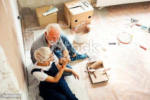 1063725014 istock photo Couple remodeling their home 1064158614