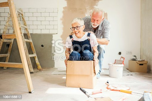 1063725014 istock photo Couple remodeling their home 1064158812