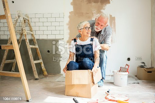 1063725014 istock photo Couple remodeling their home 1064159974