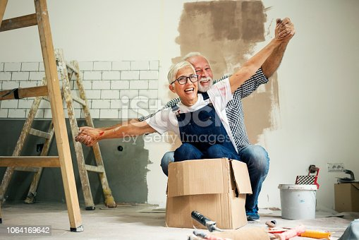 1063725014 istock photo Couple remodeling their home 1064169642