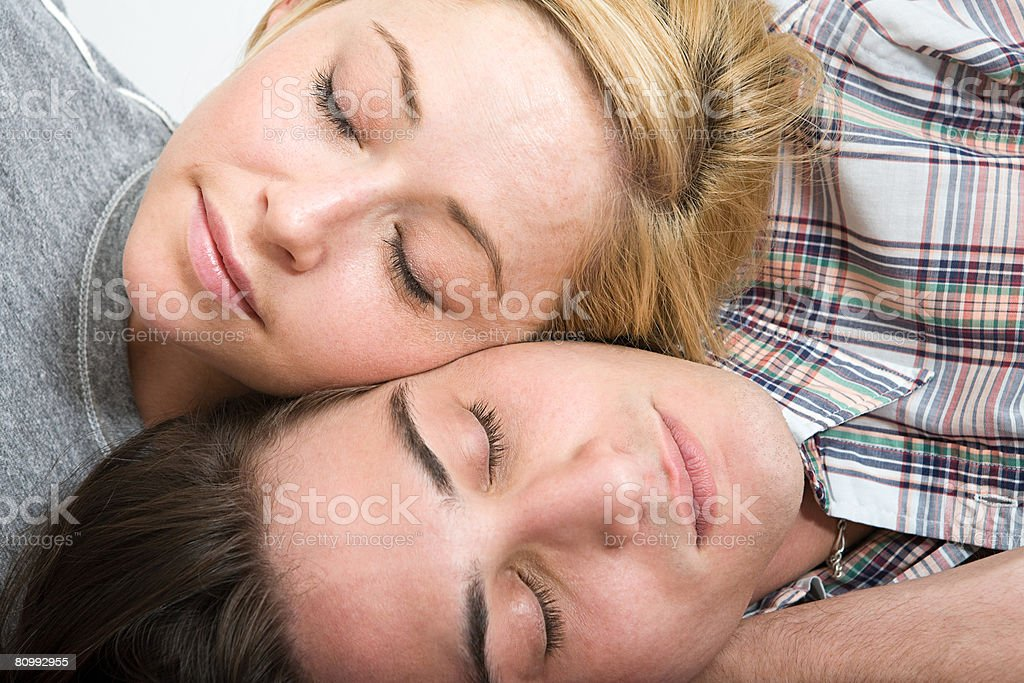 Couple resting royalty-free stock photo